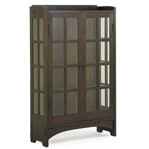 Gustav stickley twodoor china cabinet no 815 eastwood ny ca 1906 red decal faded paper label 64 x 40 x 15