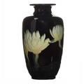 John dee wareham 187172  1954 rookwood carved black iris vase with water lilies cincinnati oh 1900 flame mark903bjdw 9 34 x 5 provenance the lillian hoffman collection