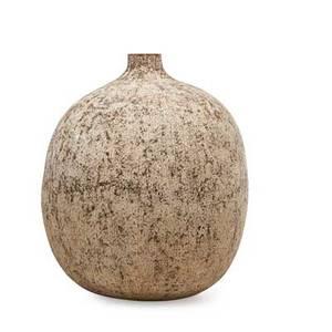Claude conover massive glazed stoneware vessel with engobe decoration chichen ohio 1970s signed and titled 22 x 16