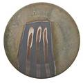 Henry gernhardt b 1933 large glazed stoneware wallhanging charger 1976 signed and dated 21 dia