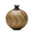 Harrison mcintosh b 1914 glazed stoneware vase claremont ca 1970s stamped hm 6 12 x 5 34