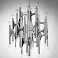 Lightolier chandelier usa 1960s aluminum plastic unmarked 29 12 x 23 dia