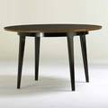Edward wormley dunbar extension dining table berne in 1950s mahogany laminate brass brass dlabel 29 12 x 48 dia inserts 15