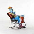 Robert st croix american 20th c enameled bronze figural sculpture 1998 numbered 19 49 12 x 26 x 37