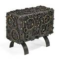 James bearden crater credenza des moines ia 2013 welded and blackened steel bronze signed b 24 12 x 30 x 14