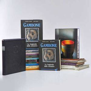 Art reference books twenty five pertaining to jewelry pottery glass and painting including venini murano 1921 ceramics ettore sottsass and two copies of gambone la leggenda della cerami