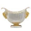 Artistica barovier vase with applied decoration italy 1930s blown glass internal gold fleck unmarked 6 12 x 9 x 4 12