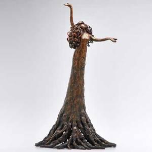 Heidi kujat celebration tree goddess bronze sculpture new mexico second half 20th c unmarked 21 x 12 12 dia