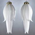 Rougier pair of large pendant lights in the form of flowers canada 1970s acrylic and metal both marked each to ceiling cap 30 x 10 12 dia
