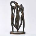 Decorative bronze circular sculpture of three abstract dancers 20th c unmarked 20 x 9 34 dia