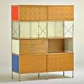 Charles and ray eames modernica esu cabinet los angeles ca 1990s zincplated steel birch plywood painted masonite branded 58 12 x 47 12 x 16 34