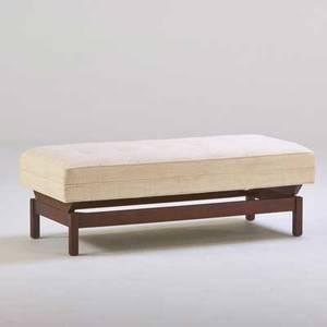 Jens risom jens risom design inc bench usa 1960s wool walnut unmarked 17 x 21 x 48