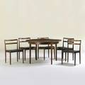 Peter lovig nielson hedenstead extension dining table with two leaves and five side chairs denmark 1960s rosewood leather ink stamped and retailer labels to chairs chairs 30 x 19 12 x 19