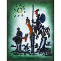 Pablo picasso spanish 18811973 enamel on copper don quixote 1955 framed signed and dated in the original 9 78 x 7 78