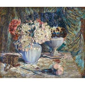 Everett lloyd bryant american 18641945 oil on linen floral still life framed signed 19 78 x 24