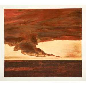 April gornick american b 1953 lithograph whirlwind 1994 framed signed titled dated and numbered 2670 17 58 x 20 sight