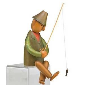 Werkstatte hagenauer wien fisherman sculpture austria 1920s painted wood stamped handmade made in austriahagenauer wien 11 12 x 4 x 6