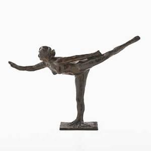 After edgar degas french 18341917 bronze with brown patina arabesque sur la jambe droite le bras gauche dans la ligne 18961911 from a later casting 11 34