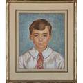 Faye swengel badura american19041991 pair of pastel portraits of young boy and girl bo and pat in badura frames both signed each 15 x 12 18 sight