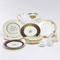 Lenox shelley nine lenox pieces two service plates with floral decoration and gold scalloped edges service plate with gold monogram service plate commemorating thomas edison service plate with s