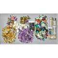 Old collection unmounted gemstones and fobs seven carved stone fobs gf amethyst 9k gold fob engraved or fancy cut gems and hardstone 125 cts tw moonstone cabochon 6 cts seed pearl 343 gs