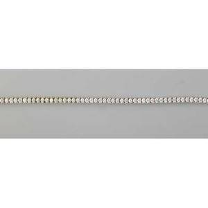 Diamond 14k white gold tennis bracelet supple line of bright diamonds approx 55 cts tw tension set on pyramidal links ca 2000 7 14 134 dwt