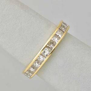 Princess cut diamond 18k gold eternity band 24 channel set diamonds approx 360 cts tw registry 10310 size 8 27 dwt in tiffany box