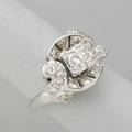 Art deco diamond and platinum dinner ring round brilliant cut diamonds approx 1 cts tw ca 1938 size 6 5 dwt