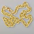 18k gold cable link necklace herco substantial solid links swivelclaw closure ca 1990 17 515 dwt