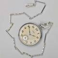 E gubelin lucerne enameled platinum pocket watch sateen dial with sub seconds applied arabic hours stem wound and set 19 jewels 7 adjust movement and case 30768 greek key enamel borders ca
