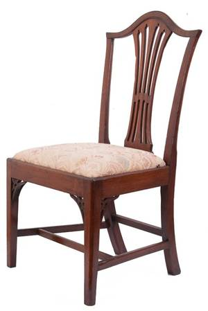 Early 19th C George III Style Mahogany Side Chair