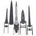 Katar daggers four include mechanical one in sheath etc 19th c longest 22
