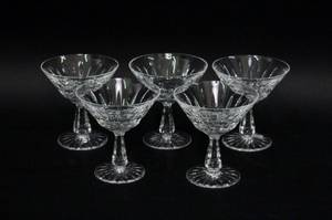 Set of Five Waterford Crystal Footed Sherbets