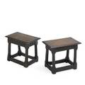 Pair of english joint stools two in oak 19th c 14 x 16 12 x 10 14