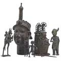 African bronze sculptures seven include three benin 20th c tallest 22
