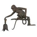Bronze monkey form lamp electrified with mounting bracket early 20th c 12 x 10
