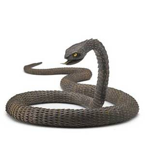 Myochin school iron articulated snake constructed of hammered plates joined inside the body the head with a hinged jaw and moveable tongue meiji periodlate 19th c japan mark for muneyoshi 39
