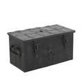 Spanish iron bound and steel chest elaborate locking mechanism 16th17th c 19 x 33 12 x 17 14