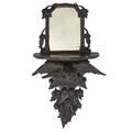 Carved wood mirrored wall shelf eagle form 19th c 38 x 18 x 10
