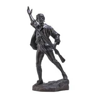 Paulfrancois choppin french 18561937 bronze sculpture un volontaire de 1792  signed 35 34