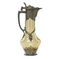 European pewter mounted claret jug grape decoration 19th c12