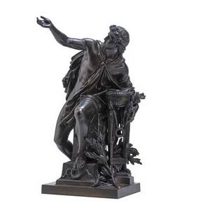 Mathurin moreau french 18221912 bronze sculpture of apollo1870 signed and dated 20 x 11 x 9