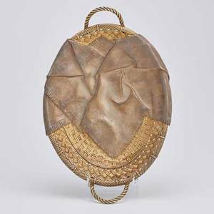 Russian trompe loeil silver cake basket parcelgilt silver raised and chased casually draped fringed napkin above an oval gilt basket with twisted rope handles on four knotted wire feet marks for