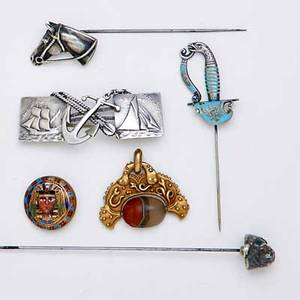 Assorted gold silver and metal jewelry marcus  co egyptian style gold and agate fob cast with serpents and granulation revolving agate scarab marked marcus  co on bail 1 12 98 dwt cham