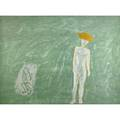 Nicolas africano american b 1948 two works of art boy and angel 1985 lithograph in colors signed dated titled and noted bat 29 34 x 40 18 sheet angel and boy 1986 lithograph