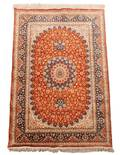 Hand Woven Persian Qum Area Rug Signed