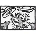 Keith haring american 19581990 untitled 1982 lithograph framed signed and dated 25 14 x 36 sheet provenance vermillion limited editions collection minneapolis