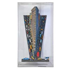 Red grooms american b 1937 flatiron building 1995 mixed media construction plexiglas box signed and dated 80 34 x 45 x 24 12 provenance private collection