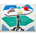 David hockney british b 1937 apples grapes and lemon on a table from brooklyn academy of music 1988 inkjet print on two sheets framed signed dated and numbered 991 17 x 22 sheets to