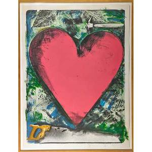 Jim dine american b 1935 heart at the opera 1983 lithograph in colors framed signed dated and numbered 2550 50 x 38 sheet publisher ulae new york provenance private collection f